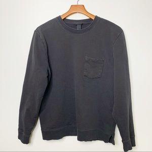 H&M Men's Black Pocket Long Sleeve Sweatshirt Sz L